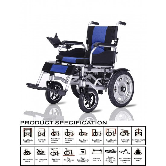 Elecrtic Folding Wheelchair With Sokup