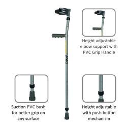 Vissco Champ Max Elbow Crutches - Fixed Handle